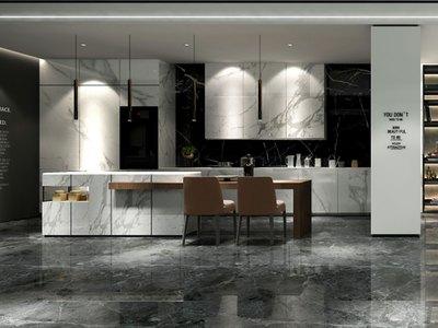 大角鹿钻石釉大理石瓷砖